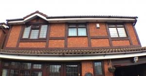 Brown tudor board installation in the UK